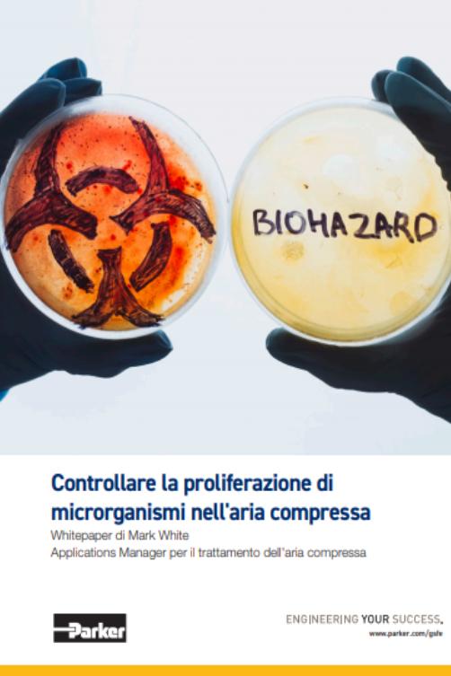 Controllo della crescita dei microrganismi nell'aria compressa